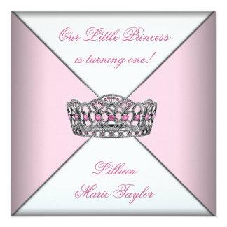 Petite fête d'anniversaire de princesse First de Carton D'invitation 13,33 Cm