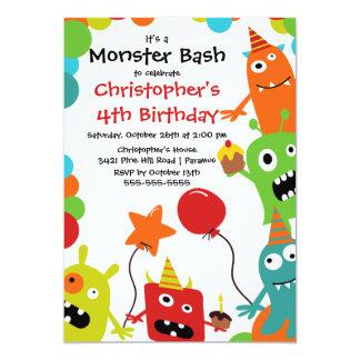 Petite fête d'anniversaire MIGNONNE de coup de Carton D'invitation 12,7 Cm X 17,78 Cm
