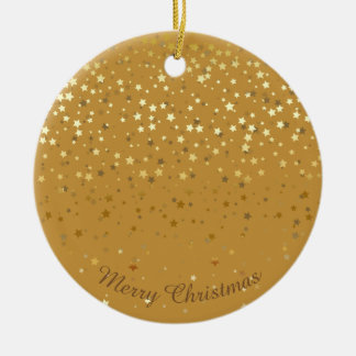 Petite Golden Stars Christmas Ornament-Orche Ceramic Ornament