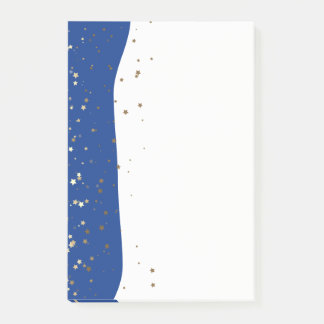 Petite Golden Stars Wave Post-it-Notes-Blue Post-it Notes