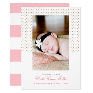 Petite Hearts Birth Announcement