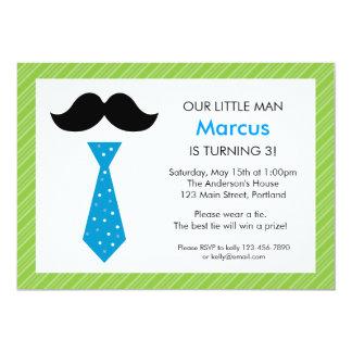 Petite invitation d'anniversaire d'homme - vert