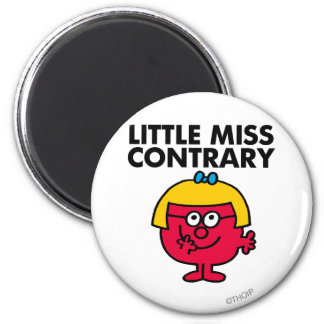 Petite Mlle Contrary Magnet Rond 8 Cm