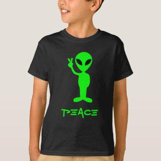 Petite pièce en t d'obscurité d'homme vert t-shirt