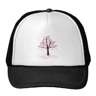 Petite Pink Cherry Tree - Hand Drawn Sketch Trucker Hat