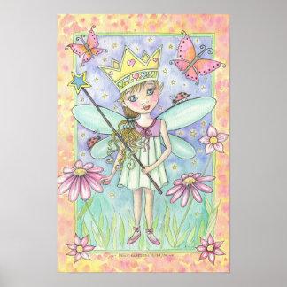 Petite princesse féerique Poster par l aquarium po