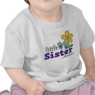 Petite soeur d'oiseaux de fleur mignonne de t-shirt