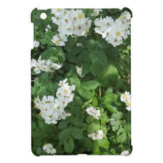 Petite white flower bunches, with yellow center iPad mini case