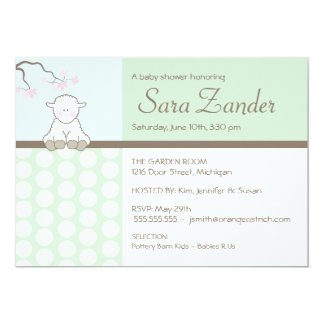Petites invitations de baby shower de l'agneau |