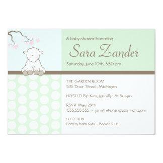 Petites invitations de baby shower de l'agneau |