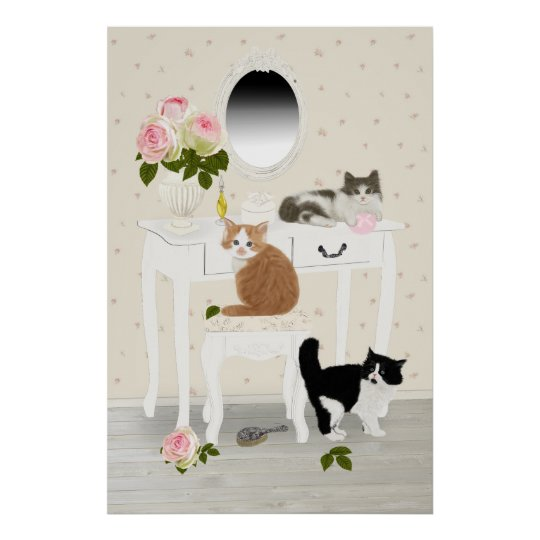 "PetitRose ""Kittens Beauty Salon"" , Poster"