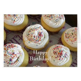 Petits gâteaux décadents pour votre anniversaire carte