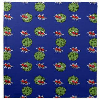 petits hommes verts et petites planètes vertes serviette imprimée