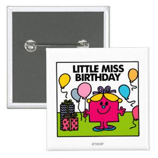 Petits présents et ballons de Mlle Birthday | Badge Carré 5 Cm