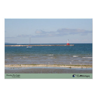 Petoskey Pier Light - Michigan Poster
