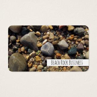 Petoskey Stone, Lake Michigan Colorful Beach Rocks Business Card