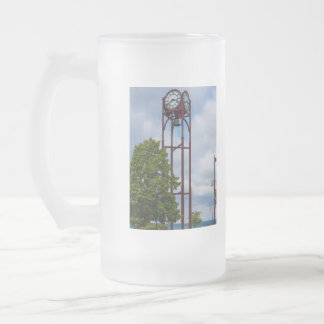 Petosky Tower Of Time Frosted Glass Beer Mug
