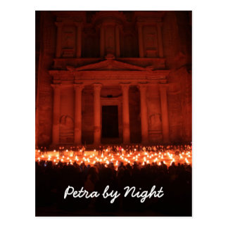 Petra by Night Postcard
