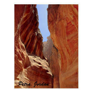 Petra, Jordan, slot canyon Postcard