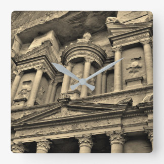Petra Treasury Building Square Wall Clock