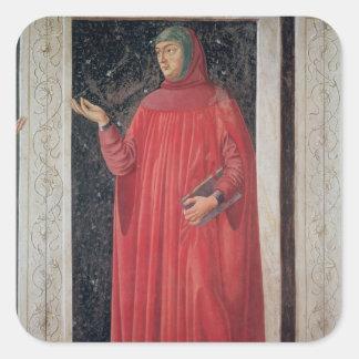 Petrarch   from the Villa Carducci series Square Sticker