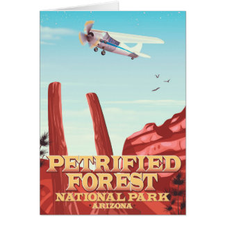 Petrified forest national park, Arizona. Card