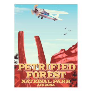 Petrified forest national park, Arizona. Postcard