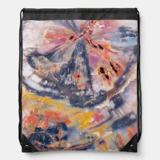 Petrified wood detail, Arizona Drawstring Bag