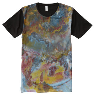 Petrified wood texture fossil stone pattern All-Over-Print T-Shirt