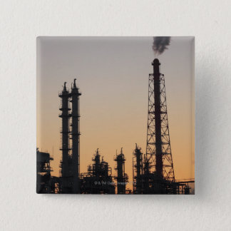 Petrochemical Plant 2 Inch Square Button
