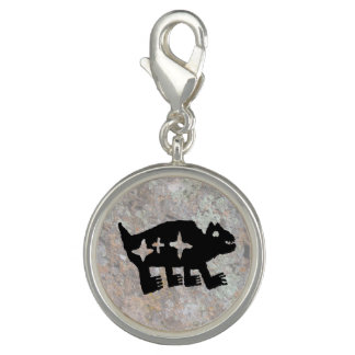 Petroglyph, Bear w/ enclosed stars, Constellation Charm