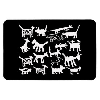 petroglyph collection Dogs and Coyotes Magnet
