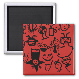 petroglyph collection Masks and Heads Magnet