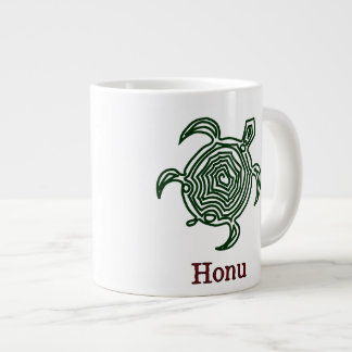 Petroglyph Hawaiian Green Sea Turtle Large Coffee Mug