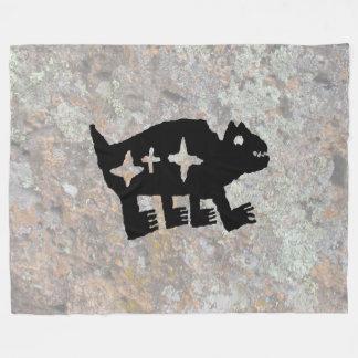 Petroglyph, Koshari Clown Dancer Fleece Blanket