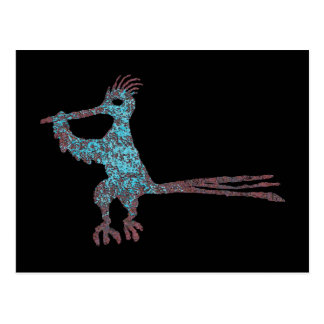 Petroglyph, New Mexico Road Runner Postcard