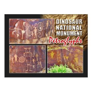 Petroglyphs, Dinosaur National Monument, Utah Postcard