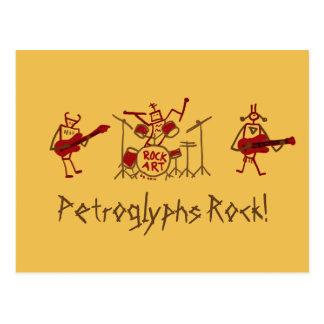 Petroglyphs Rock Band Post Card