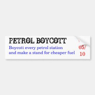 PETROL BOYCOTT, Boycott every petrol station an... Bumper Sticker