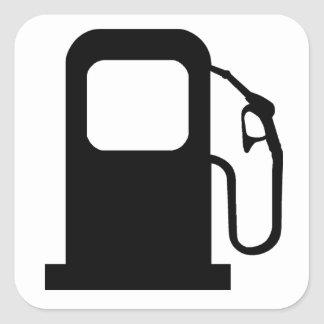 Petrol Pump Square Sticker