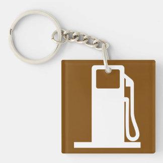Petrol Road Sign Keychain