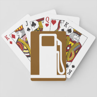 Petrol Road Sign Playing Cards