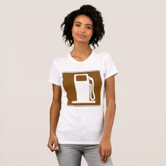 Petrol Road Sign Womens T-Shirt
