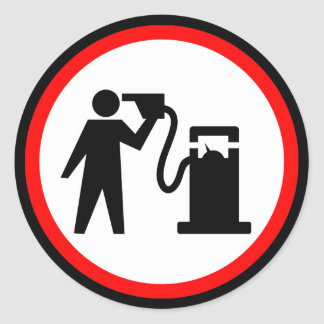 Petrol Suicide Classic Round Sticker