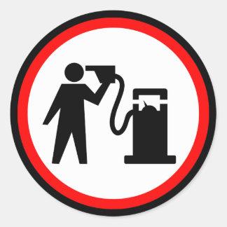 Petrol Suicide Round Sticker