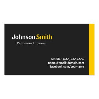 Petroleum Engineer - Modern Minimalist Amber Business Card