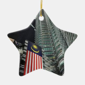 Petronas Towers at Night Ceramic Ornament
