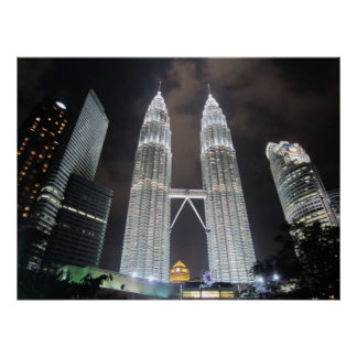 Petronas Towers at Night Print