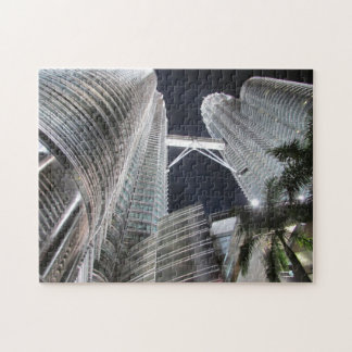 petronas towers night jigsaw puzzle