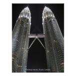 Petronas towers poster